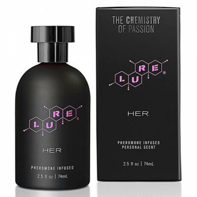 LURE BLACK LABEL PERFUME WITH PHEROMONES FOR HER - 74ML