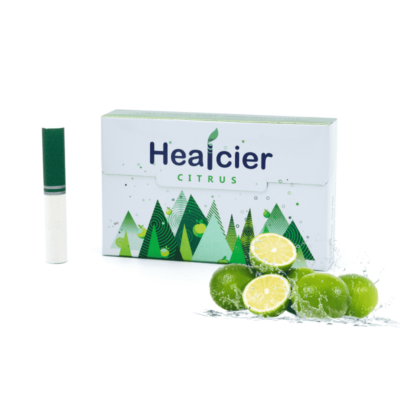 HEALCIER – CITRUS NIKOTINMENTES HEVÍTŐRÚD (MENTOLLAL) - 1 DOBOZ