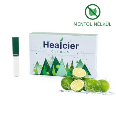 HEALCIER – CITRUS NIKOTINMENTES HEVÍTŐRÚD (MENTOL NÉLKÜL) - 1 DOBOZ
